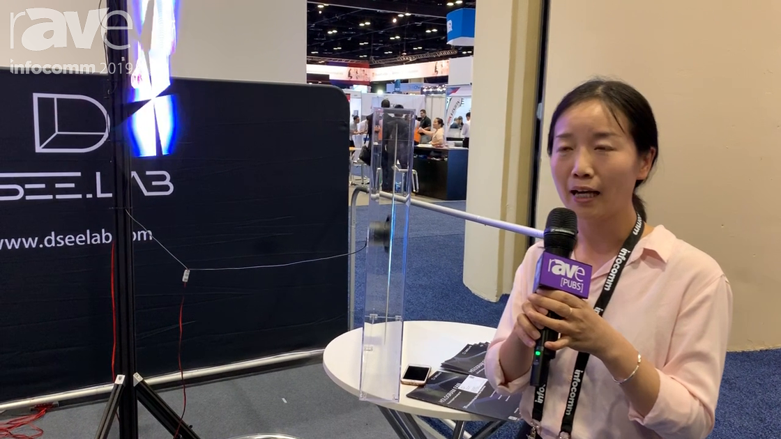 "InfoComm 2019: DseeLab Demos a ""Hologram"" LED Fan Display"