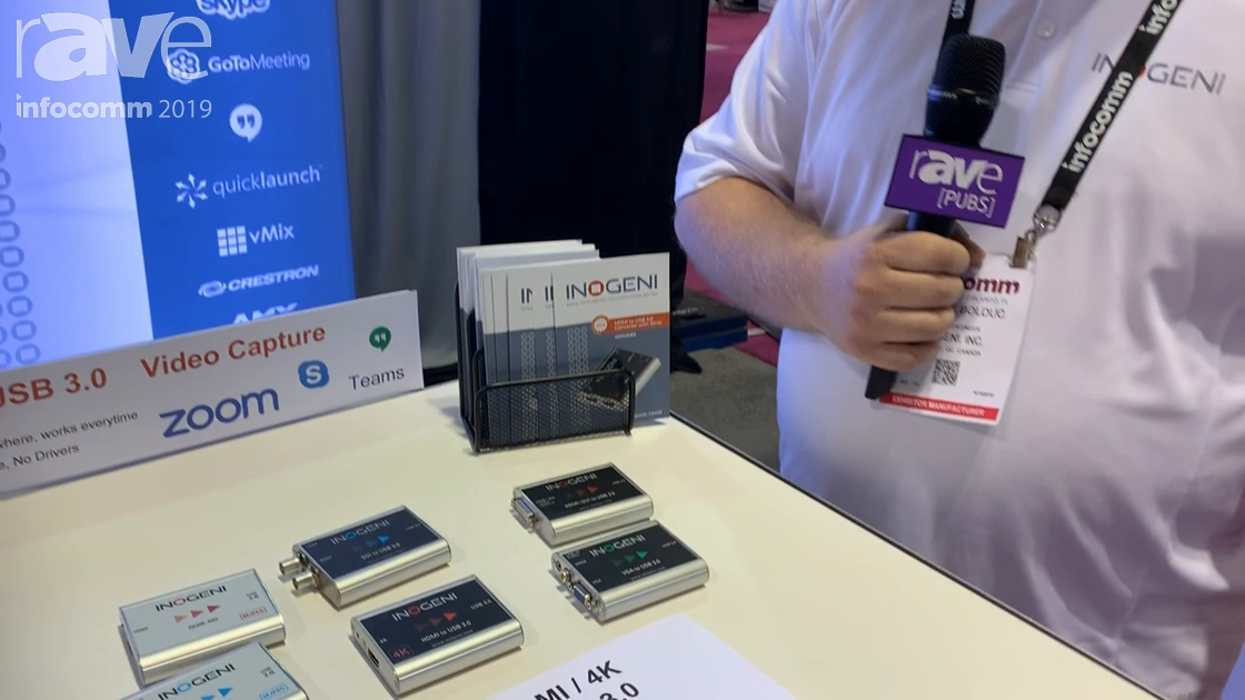 InfoComm 2019: Inogeni Features 4KX HDMI to USB 3.0 Converter for 4K@30Hz