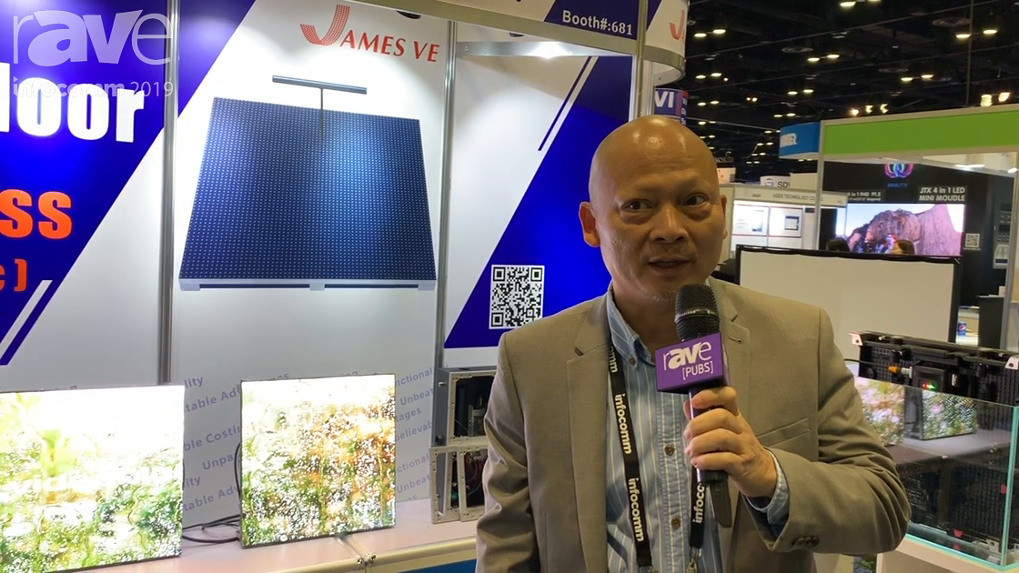 InfoComm 2019: James VE Shows Off Its 2.6P High Resolution Outdoor LED Display