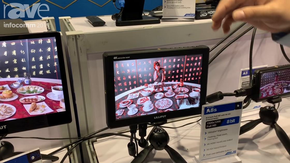 InfoComm 2019: Lilliput Shows the A8S and A8 Live Video Monitor