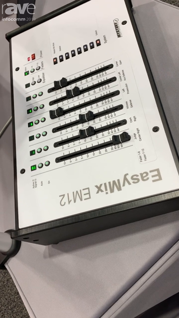 InfoComm 2019: Mystery Electronics Shows EasyMix EM12 DSP Remote Controller With Motorized Faders