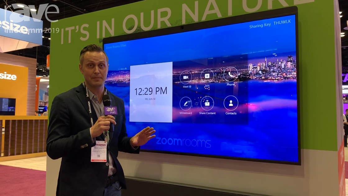InfoComm 2019: DTEN Unveils the New D7 Zoom Room All-in-One Display in the Starin Booth