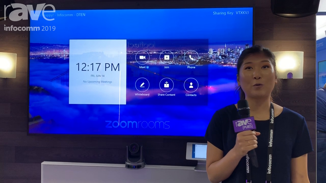 InfoComm 2019: Zoom Showcases Zoom Rooms for Touch on the DTEN D7 75″ Display