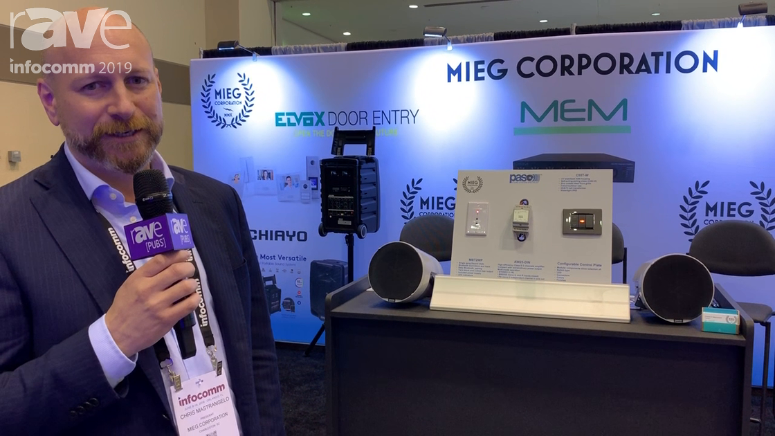 InfoComm 2019: MIEG Corporation Shows Waterproof Speaker System, MEM Bluetooth Wall Plate, DIN Amp