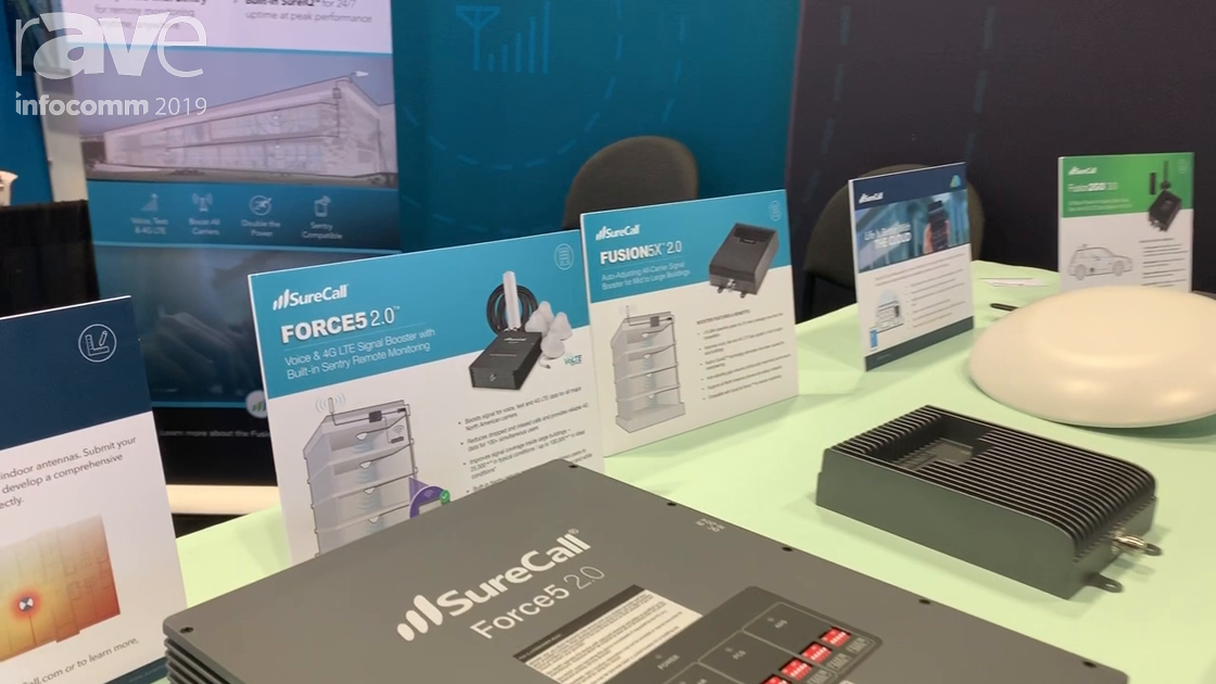InfoComm 2019: SureCall Features Its Force5 2.0, Fusion 5X 2.0 Cell Signal Boosters