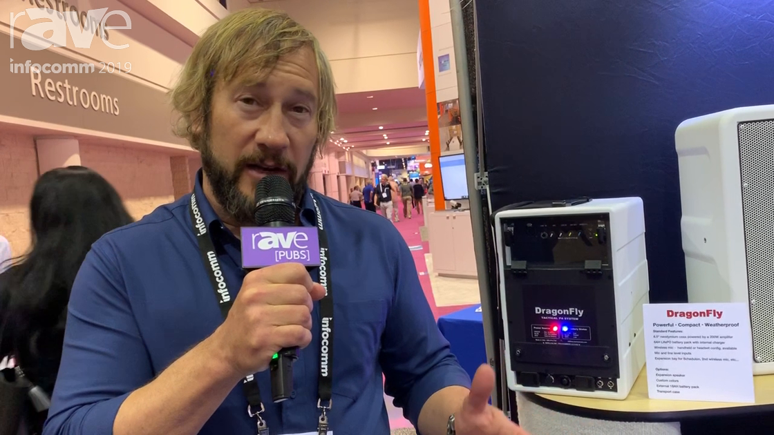 InfoComm 2019: Technomad Intros DragonFly, a Powerful, Portable, Weatherproof, 200-Watt Amplifier