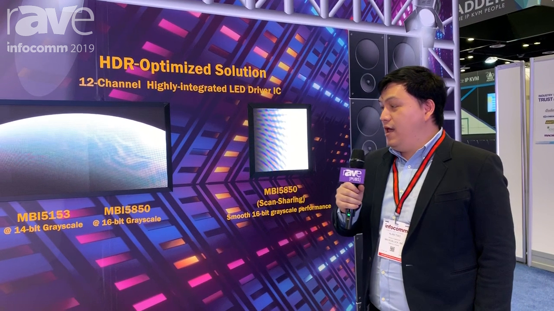 InfoComm 2019: Macroblock Showcases the MBI5850 Scan-Sharing for Smooth 16-Bit Grayscale Performance