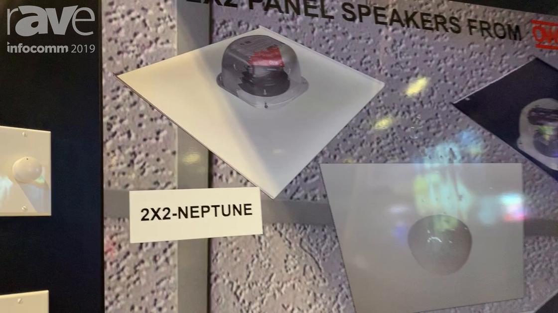 InfoComm 2019: OWI Showcaes the Neptune Speaker, a 360-Degree Speaker That Fits in a 2×2 Drop Panel