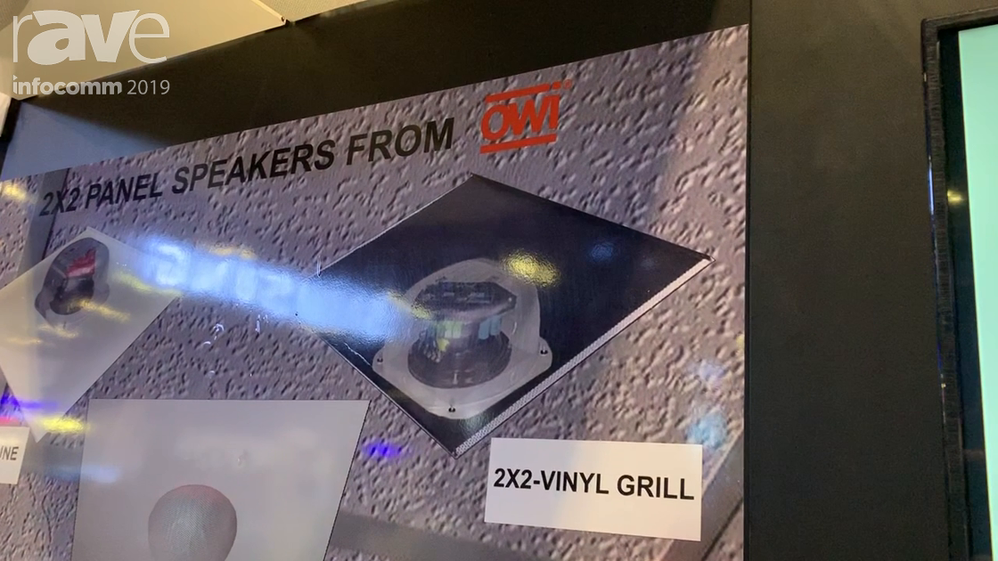 InfoComm 2019: OWI Shows a 2×2-Vinyl Grill Speaker That Looks Like a Return Air Event