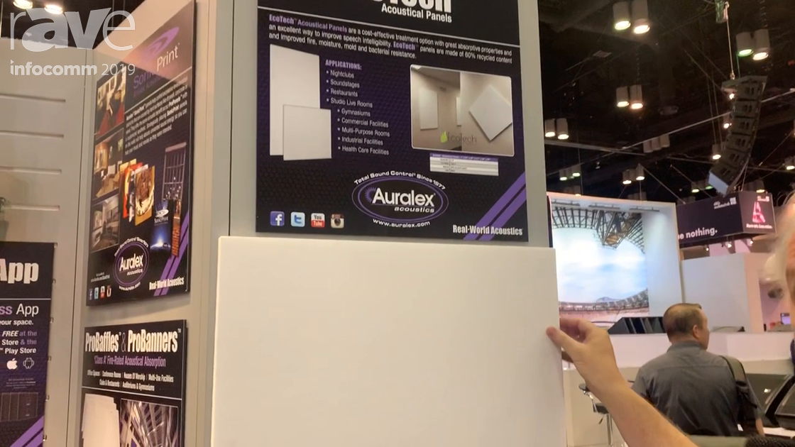 InfoComm 2019: Auralex Acoustics Features Its Class A EcoTech Acoustic Panels With NRC of 70