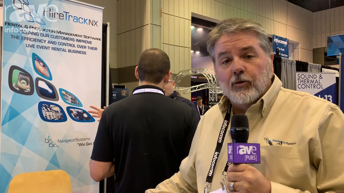 InfoComm 2019: Navigator Systems Features HireTrack NX Rental and Inventory Management Software