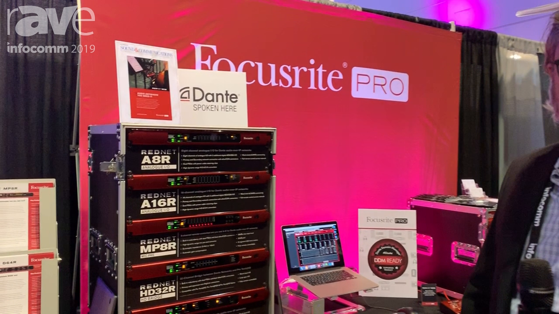 InfoComm 2019: Focusrite's RedNet and RedLine Audio-Over-IP Interfaces Are Now DDM Ready