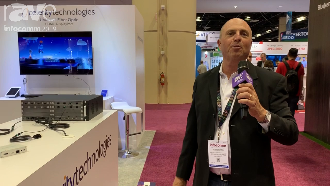 InfoComm 2019: Celerity Technologies Features Universal Fiber Optic (UFO) Cable, Intros 16×16 Switch