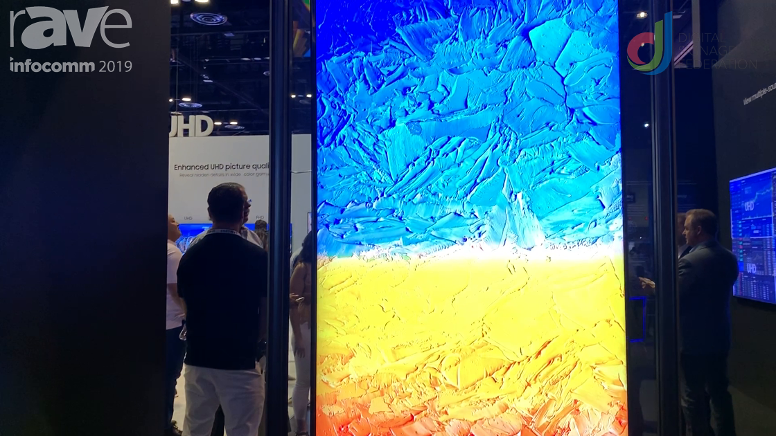 InfoComm 2019: Laura Davis-Taylor Checks Out Samsung QLED 8K Display