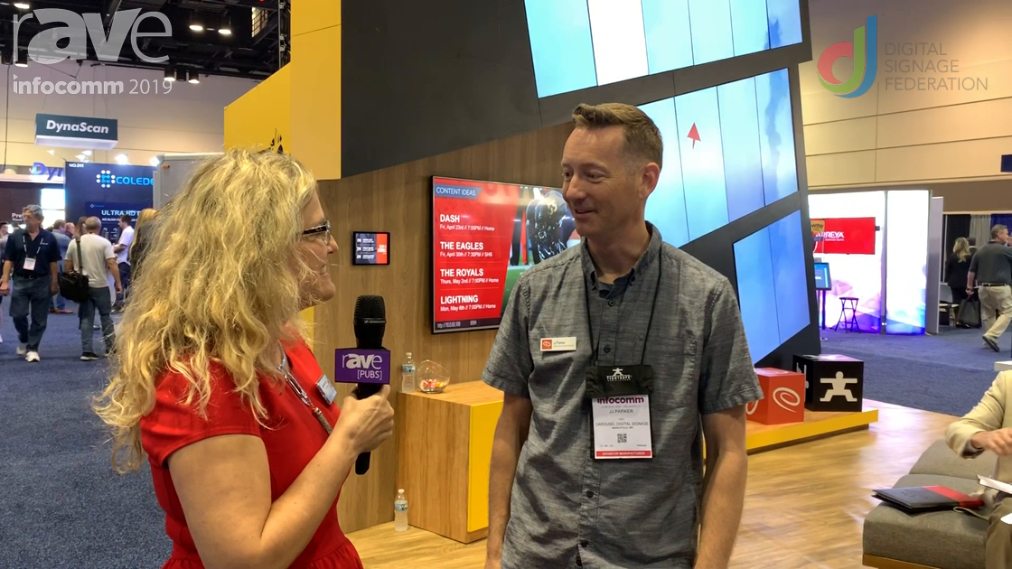 InfoComm 2019: Laura Davis-Taylor Talks to JJ of Carousel Digital Signage