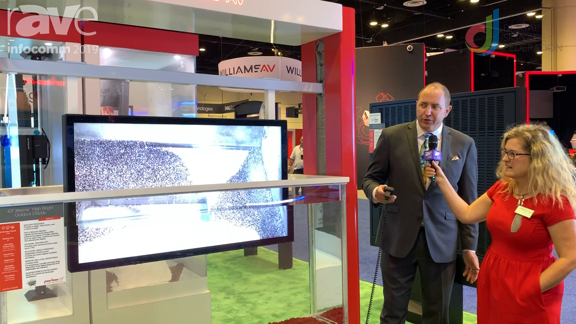 InfoComm 2019: Peerless-AV Shows IP68 Xtreme Outdoor Display Underwater with Laura Davis-Taylor