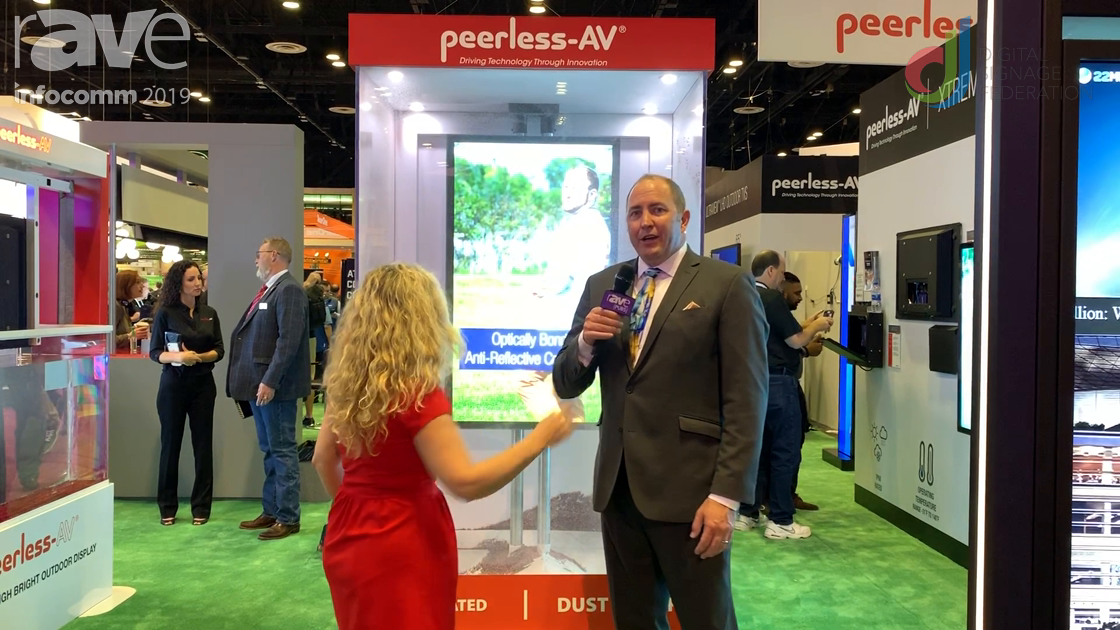 InfoComm 2019: Peerless-AV Talks With Laura Davis-Taylor on IP68 Rated Displays for Digital Signage