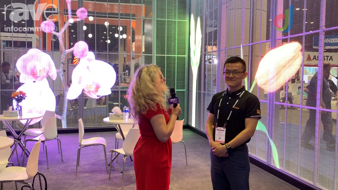 InfoComm 2019: Yaham Shows Laura Davis-Taylor Its Transparent LED Display