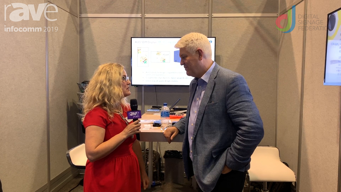 InfoComm 2019: ComQi Talks to Laura Davis-Taylor About AUO SDM Displays, Partnership with Intel