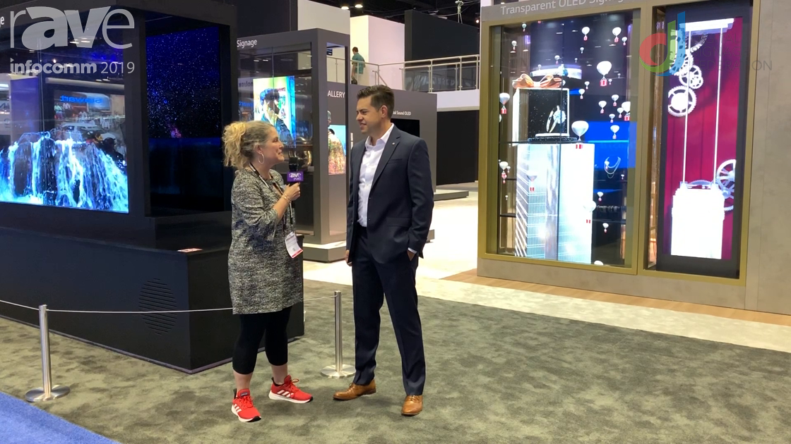 InfoComm 2019: Garry Wicka Gives Laura Davis-Taylor Overview of LG at InfoComm