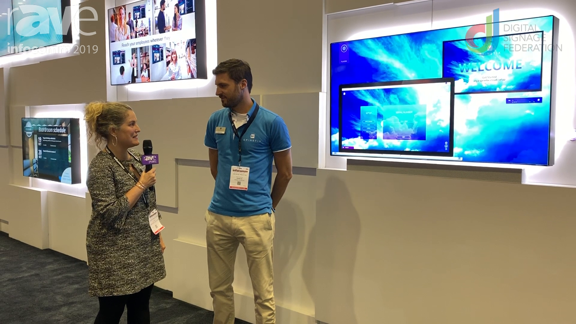 InfoComm 2019: SpinetiX Talks ARYA Digital Signage Solution with Laura Davis-Taylor