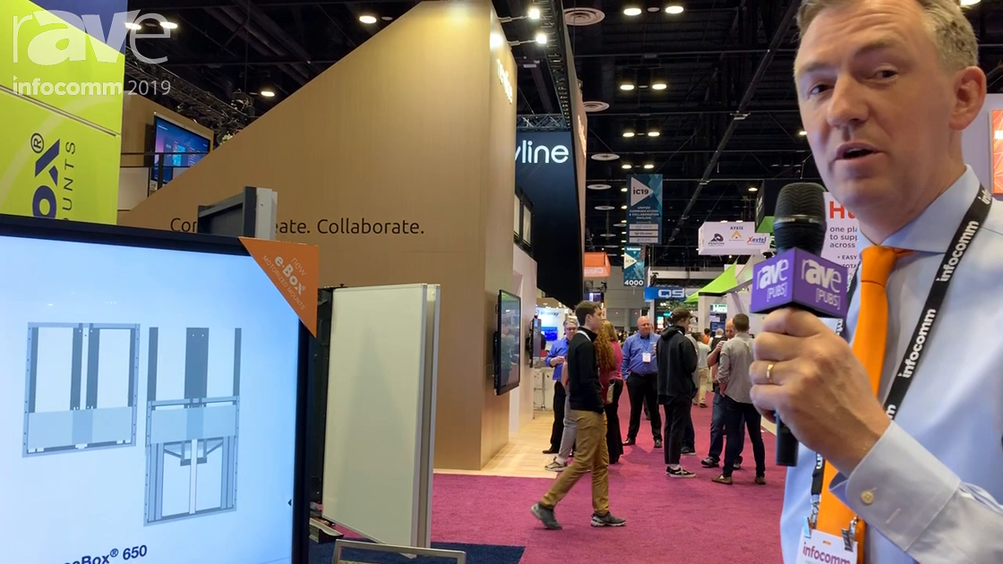 InfoComm 2019: BalanceBox Showcases the e-Box Tilt Table Stand With Built-in Saftey Feature