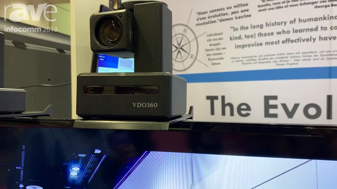 InfoComm 2019: VDO360 Demos the CompassX PTZ Camera With 10x Optical Zoom and 10x Digital Zoom