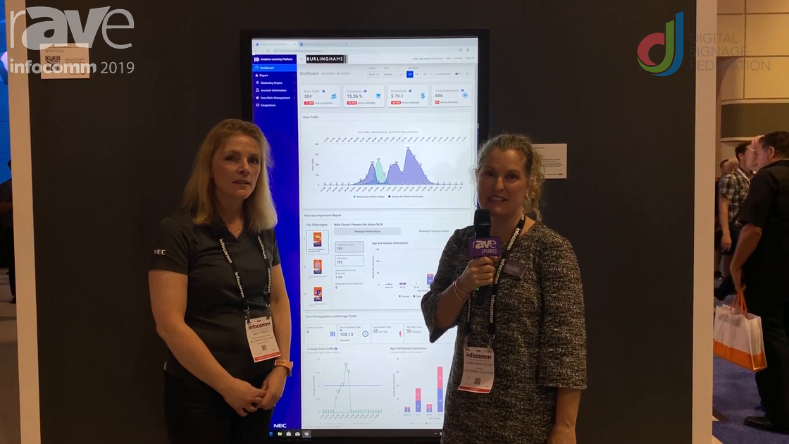 InfoComm 2019:  Kelly Harlin Talks NEC Display ALP Pro with Laura Davis-Taylor