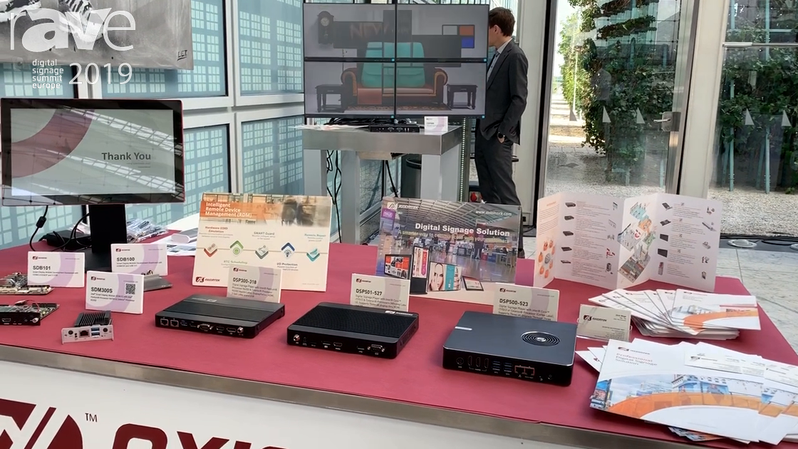 DSSE 2019: Axiomtek Shows Line of Embedded or SDM Digital Signage Players