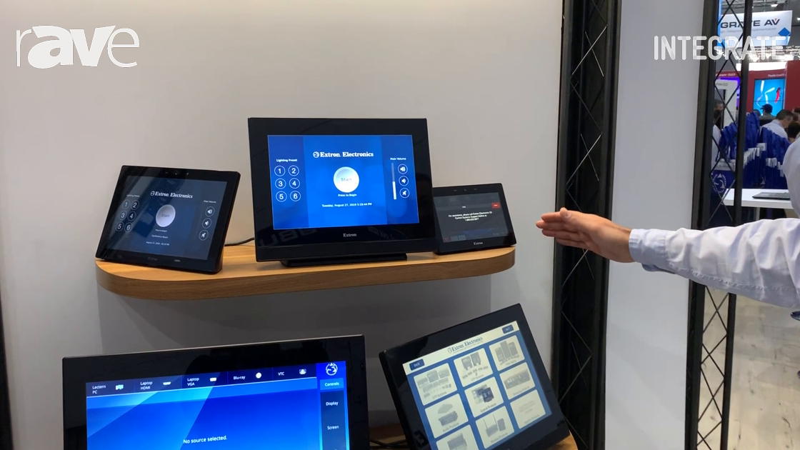 Integrate 2019: Extron Shows Off Its TouchLink Pro Range of Touch Panels