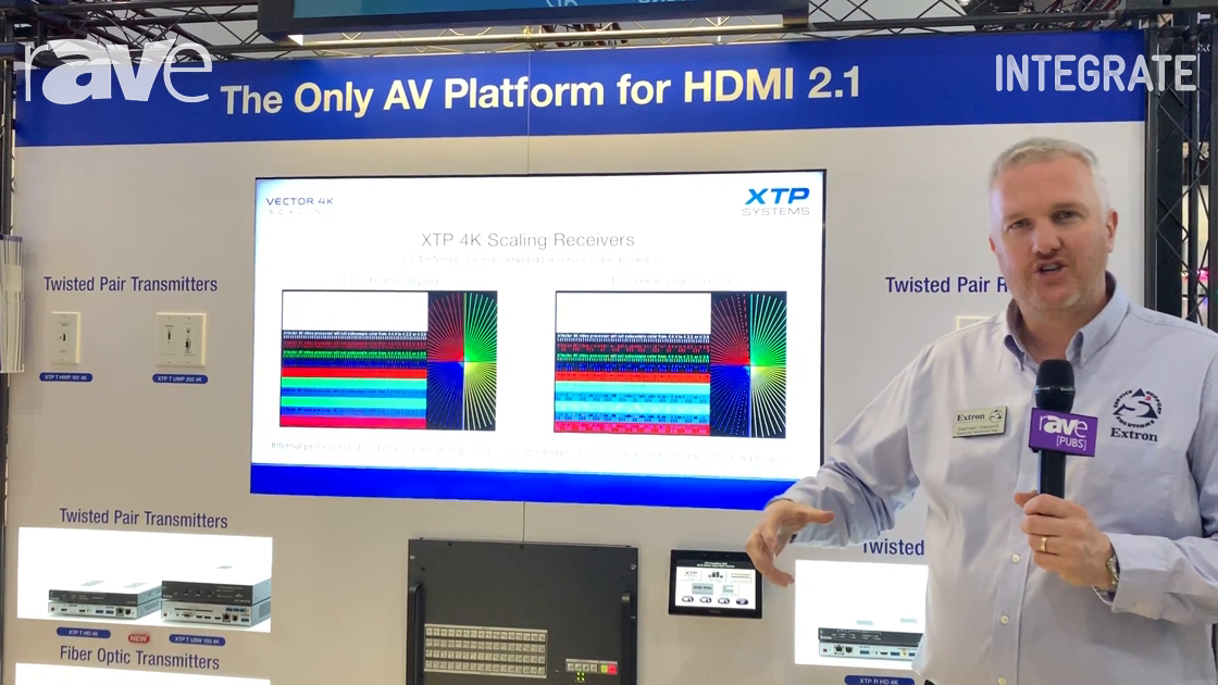 Integrate 2019: Extron Showcases the 2nd Generation of XTP II CrossPoint Series With 50G Backplane