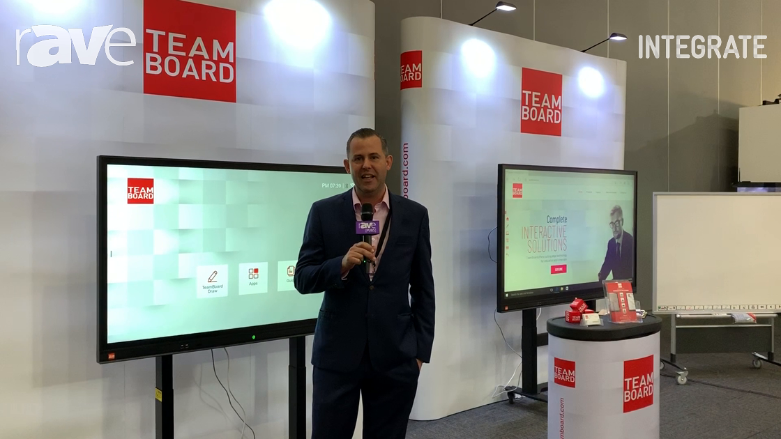 Integrate 2019: TeamBoard Launches 65″ and 75″ Slim IR TeamBoard Interactive Touchscreens