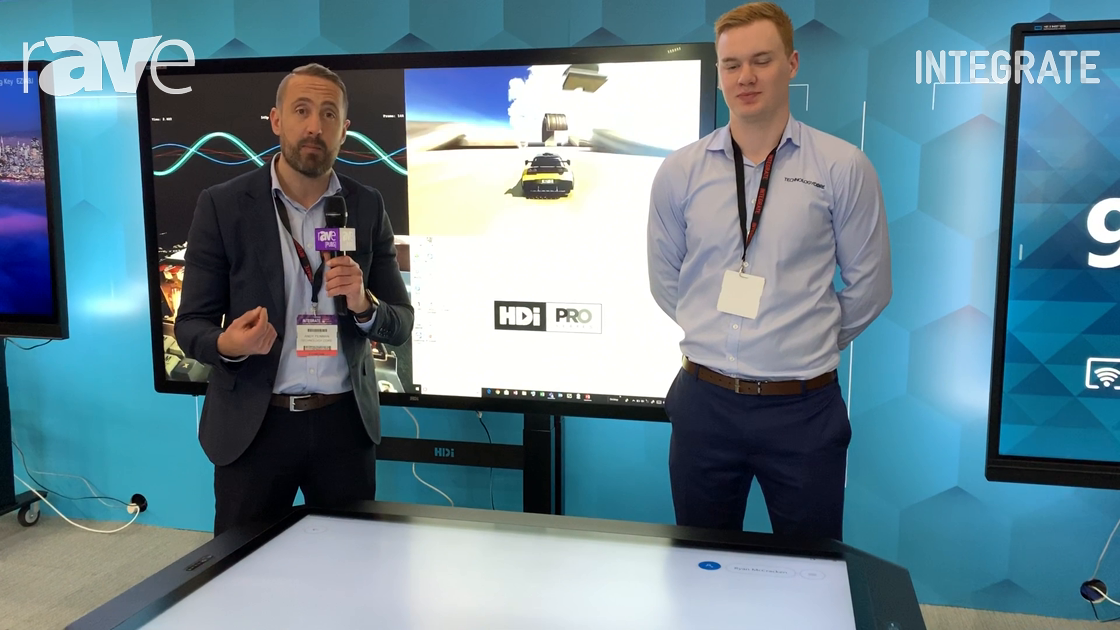 Integrate 2019: Technology Core Adds HDi Workspace Table With Optically Bonded Glass, 60 Touchpoints