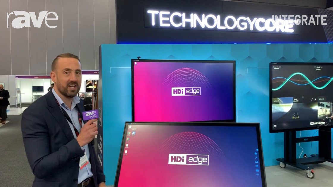 Integrate 2019: Technology Core Features HDi edge Multitouch Display Series With Slim IR Bezel