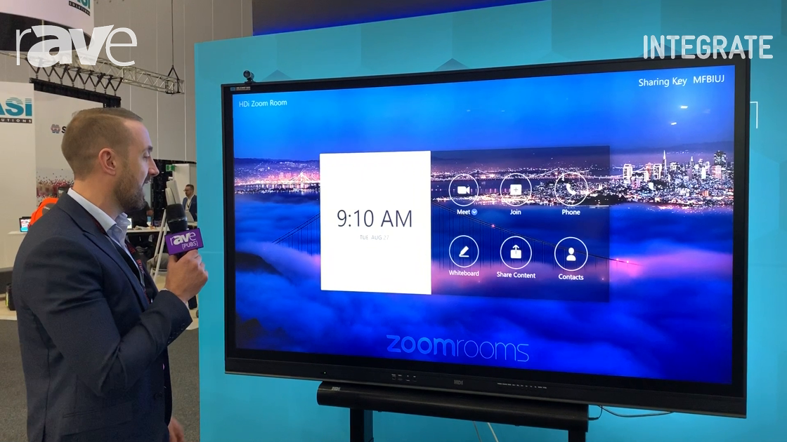Integrate 2019: Technology Core Demos Zoom Room Integration on the HDi edge Display