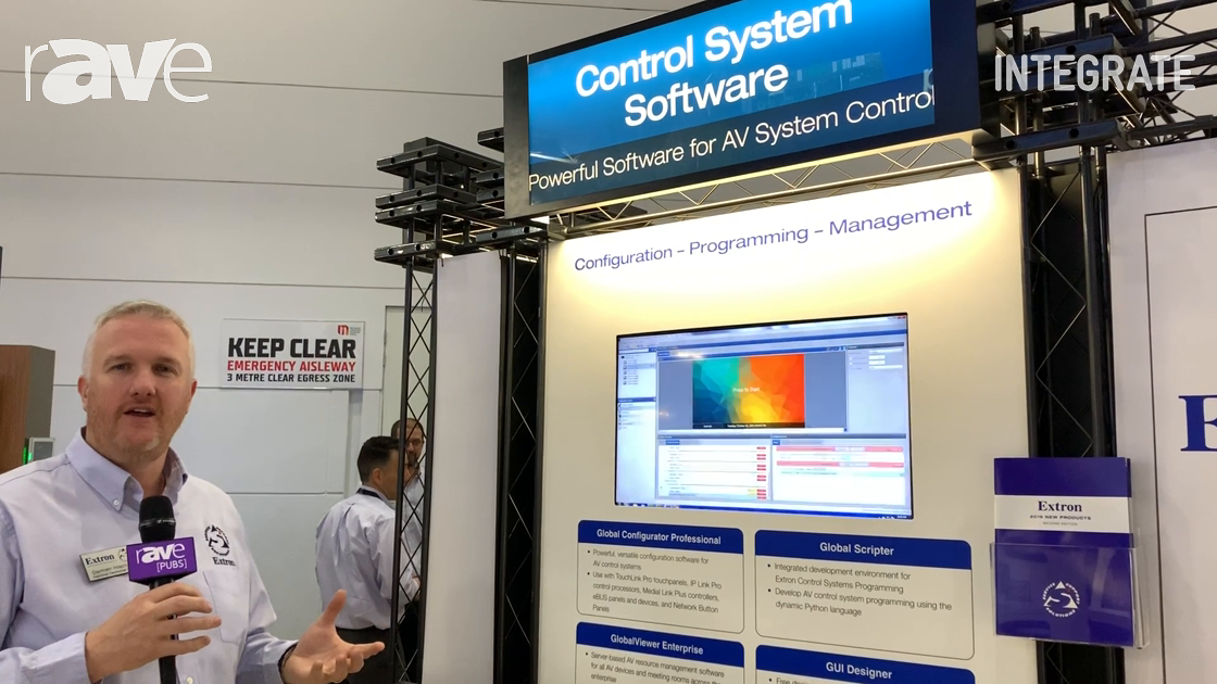 Integrate 2019: Extron Shows Control System Software, Including Global Configurator Professional