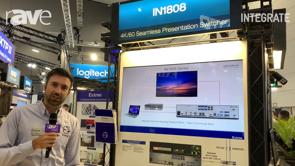 Integrate 2019: Extron Exhibits IN1808 Series All-in-One Switcher for Higher Education