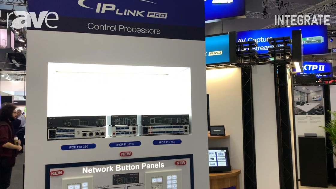 Integrate 2019: Extron Highlights Its IP Link Pro Control Processors and Network Push Button Panels