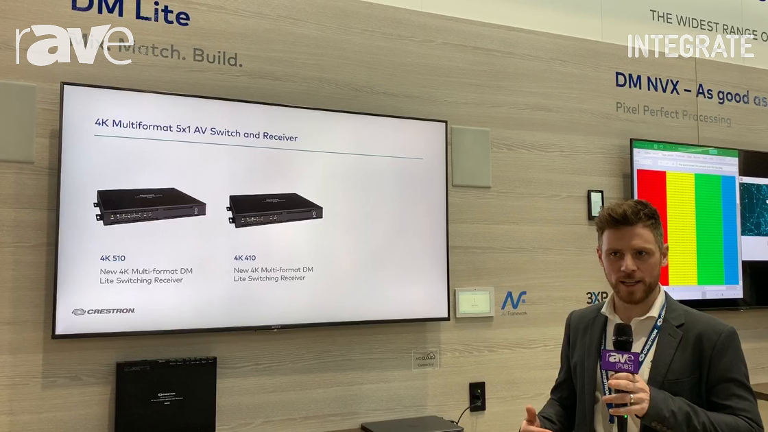 Integrate 2019: Crestron Shows Its DM Lite Transmitters and Receivers for Low-Cost AV Extension