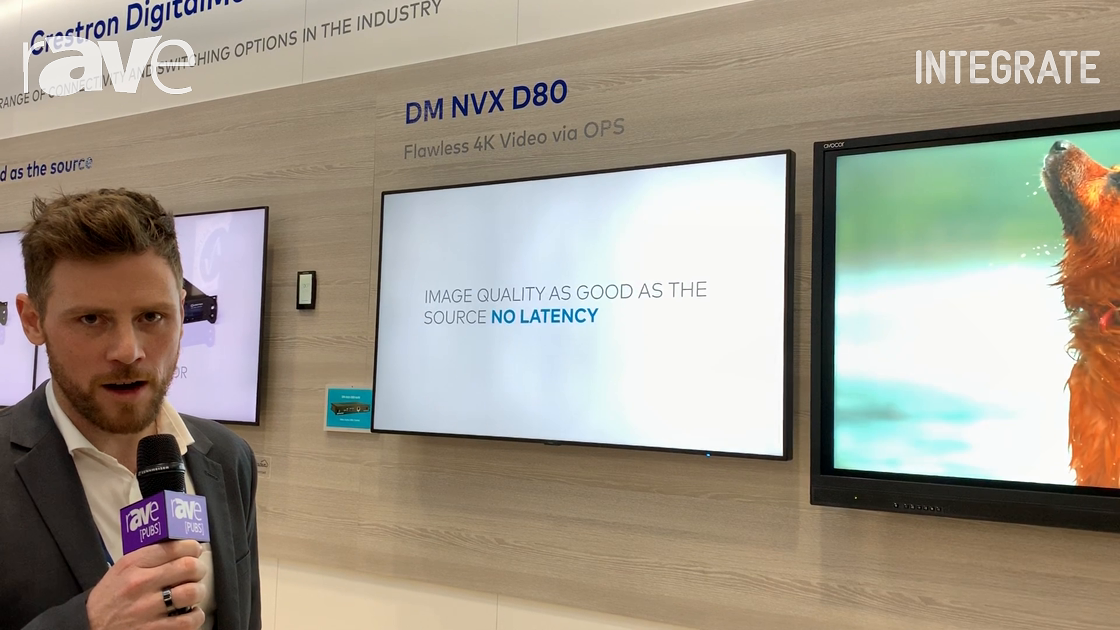 Integrate 2019: Crestron Exhibits the DM NVX D80 4K Video Receiver in OPS Form Factor