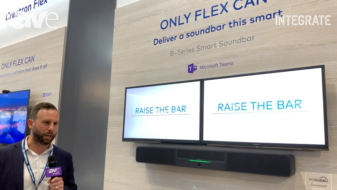 Integrate 2019: Crestron Highlights the Flex B-Series Smart Soundbar for Microsoft Teams UCC Rooms