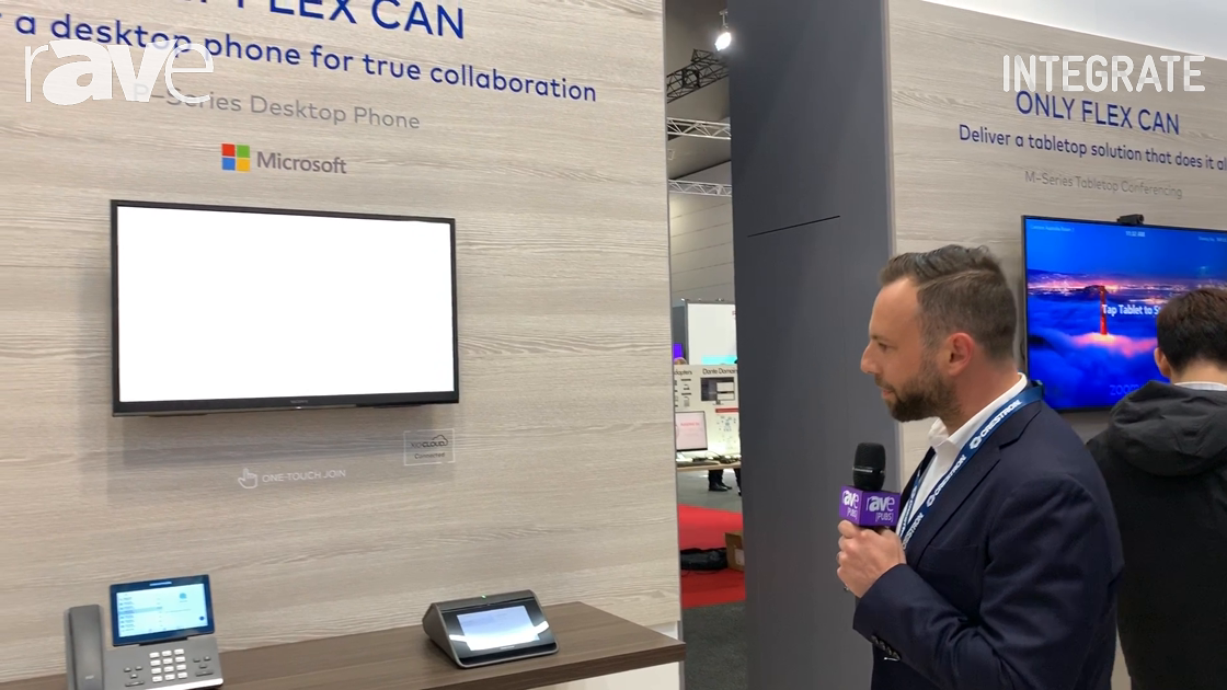 Integrate 2019: Crestron Showcases Flex P-Series Desktop Phone and M-Series Tabletop Conferencing