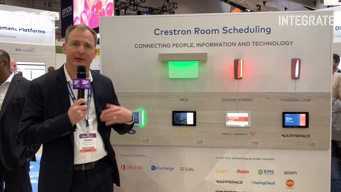 Integrate 2019: Crestron Talks About Room Scheduling Solutions, Shows Room Indicators, Touch Panels