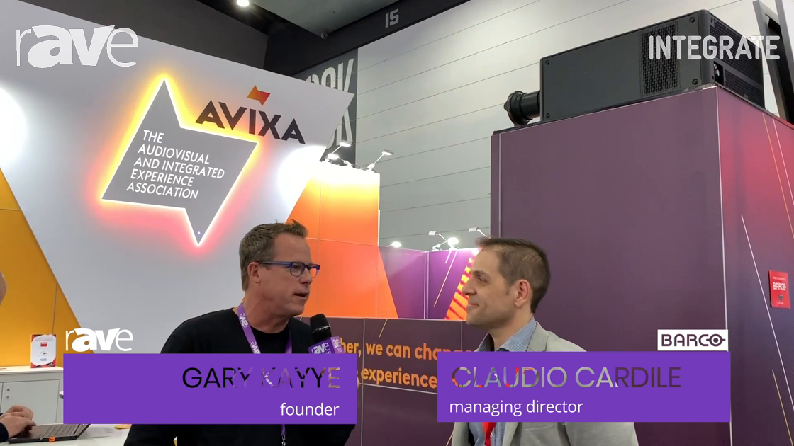 Integrate 2019: Claudio Cardile of Barco Speaks with Gary Kayye