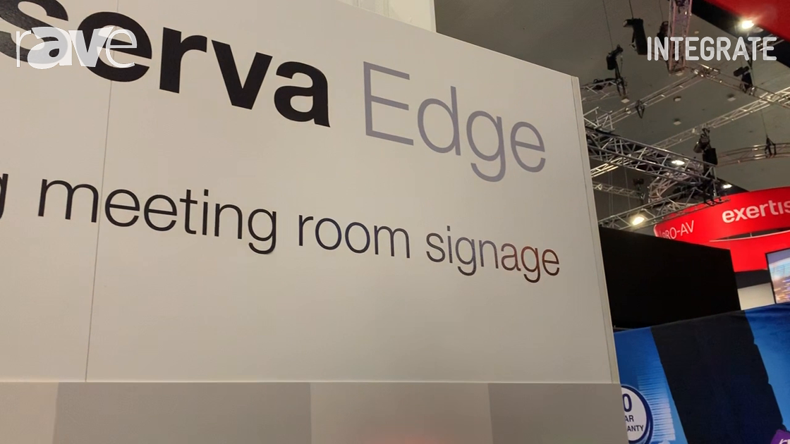 Integrate 2019: Onelan Debuts the Reserva Edge Meeting Room Sign Line