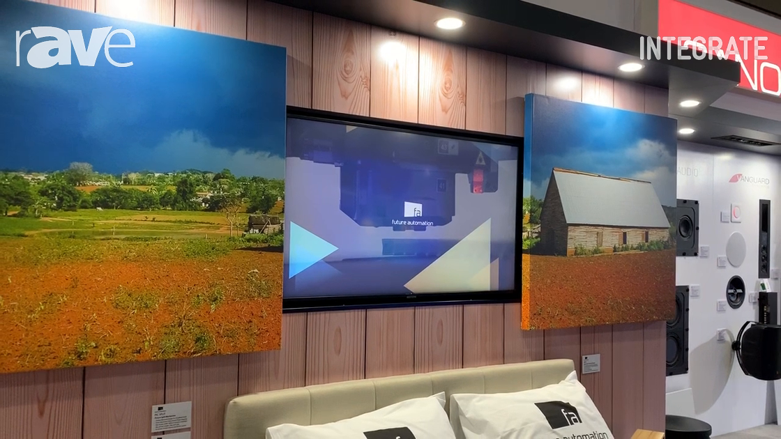 Integrate 2019: Future Automation Demos Picture Split TV Mount System on the Canohm Australia Stand