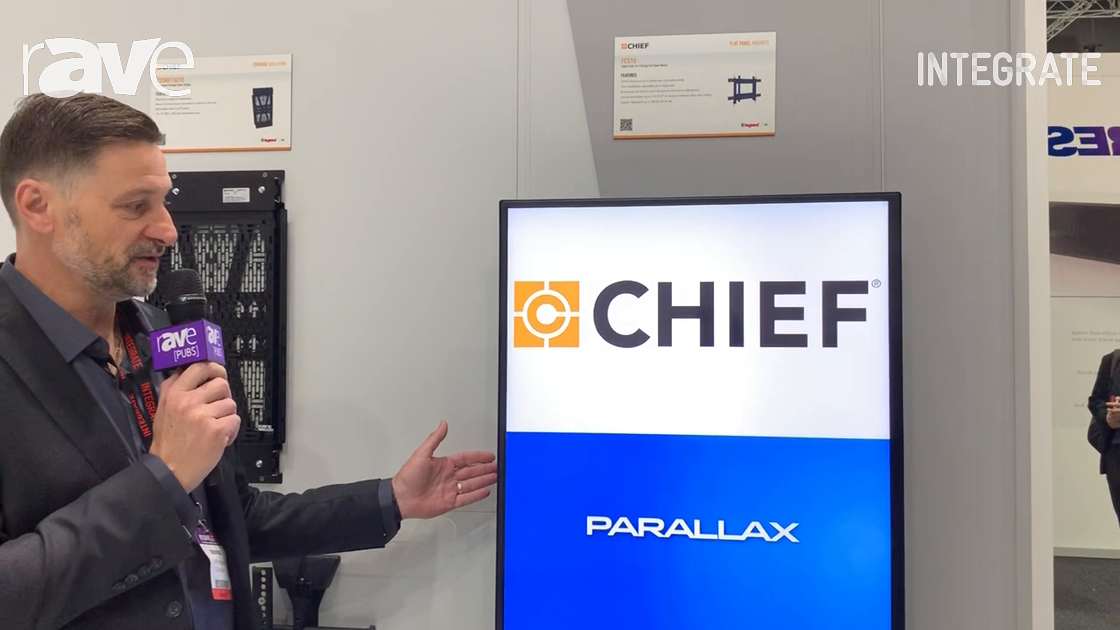 Integrate 2019: Chief Features the FCS1U Flat Panel Wire Mount on the Midwich Stand