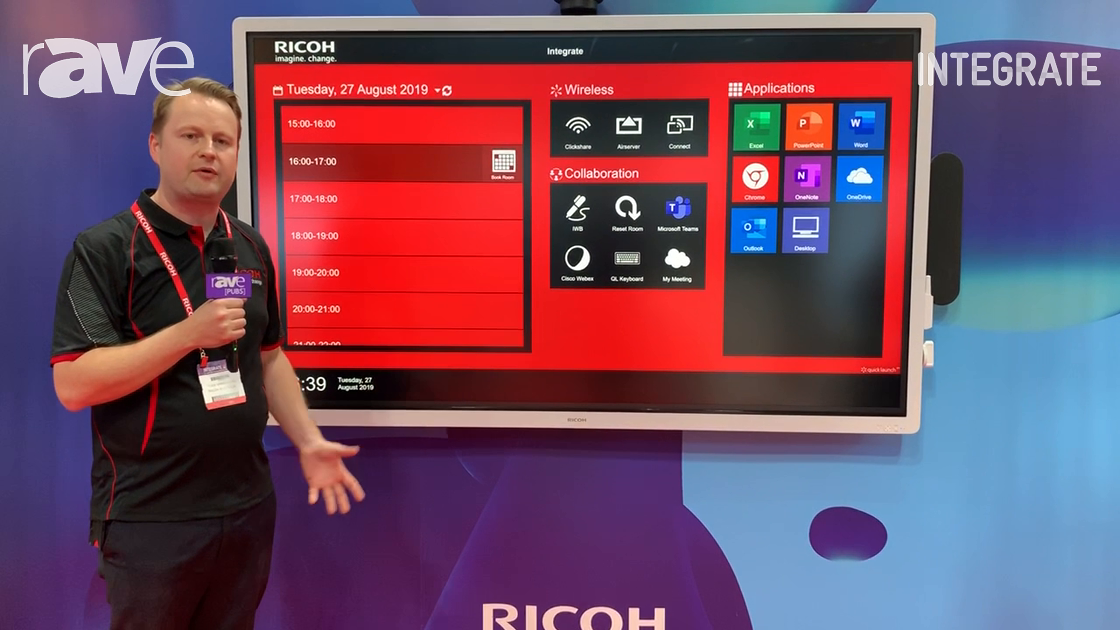 Integrate 2019: Ricoh Demos Interactive Collaboration Hub for Smart Meetings and Workspaces