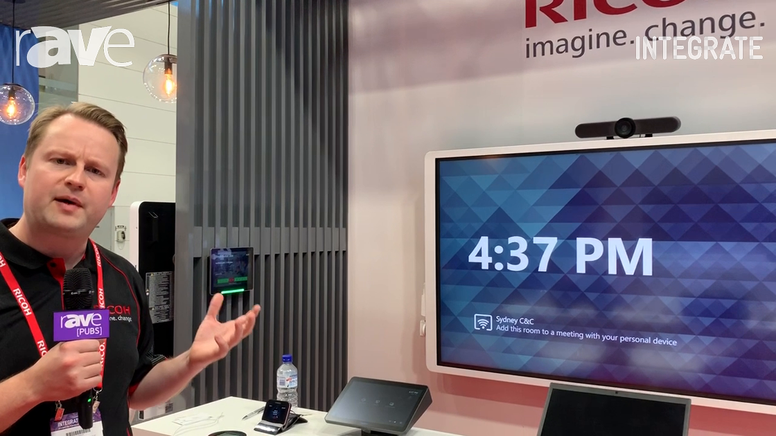 Integrate 2019: Ricoh Shows Single-Button Join Solution Using Logitech Tap for Smart Meetings