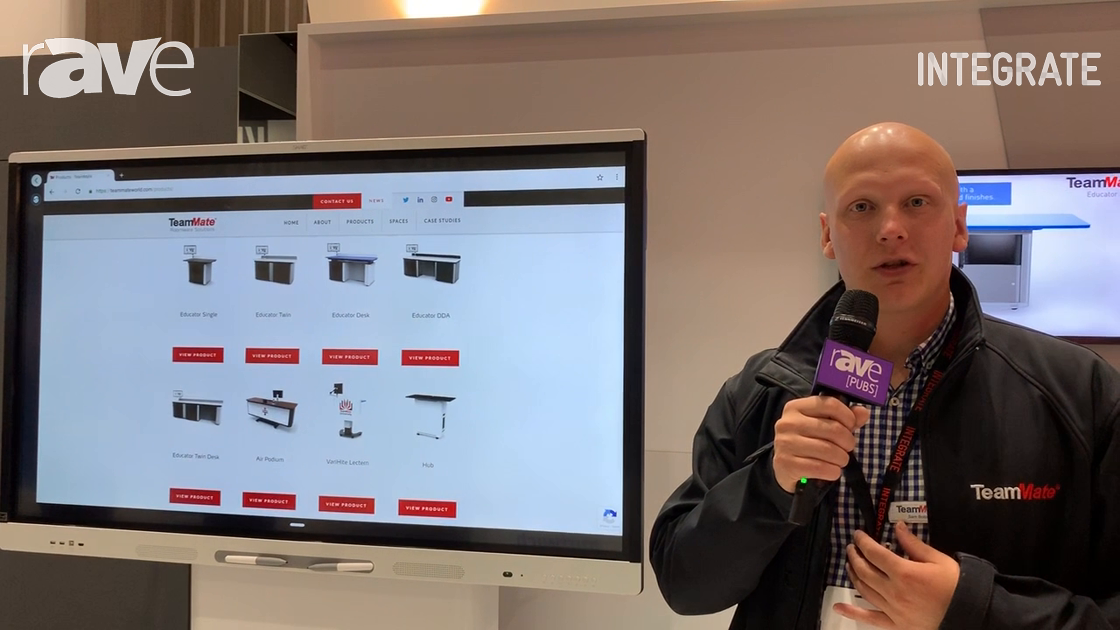 Integrate 2019: TeamMate Overviews Variable-Height Screen Stands on Midwich Stand